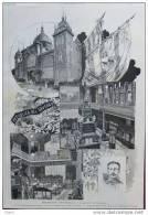 Exposition Universelle - Le Pavillon De L´Uruguay - Page Original - 1889 - Documents Historiques