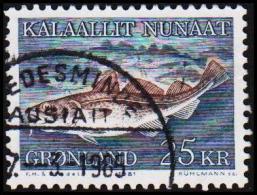 1981. Codfish. 25 Kr.  (Michel: 129) - JF175278 - Groenlandia