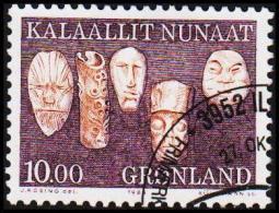 1988. Ethnographical Designs Series III. 10,00 Kr. Lilac. (Michel: 188) - JF175324 - Groenlandia