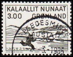 1980. Woodcut By Aron From Kangeq. 3,00 Kr. Black. (Michel: 124) - JF175276 - Groenland