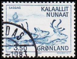 1981. Saqqaq-culture And Tunit-Dorset-culture. 3,50 Kr. Blue (Michel: 131) - JF175280 - Groenlandia