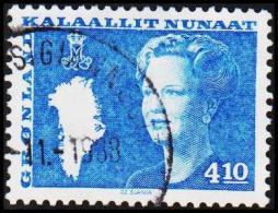 1988. Queen Margrethe. 4,10 Kr. Blue (Michel: 180) - JF175316 - Groenlandia