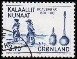 1984. 1000-års Series IV. Year 1500-1800. 3,70 Kr. Blue. (Michel: 149) - JF175292 - Groenlandia