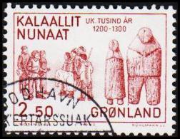 1983. 1000-års Series III. Year 1200-1500. 3,50 Kr. Brown (Michel: 144) - JF175288 - Groenlandia