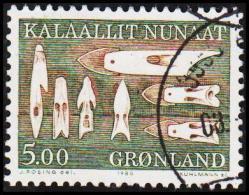 1988. Ethnographical Designs Series III. 5,00 Kr. Green. (Michel: 187) - JF175323 - Groenlandia