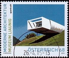 AUSTRIA ÖSTERREICH 2015 Moderne Architektur In Österreich - Museum Liaunig USED /O / GESTEMPELT - 2011-... Gebraucht