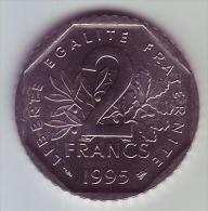 2 Francs Semeuse Nickel - 1995 - SUP/SPL -