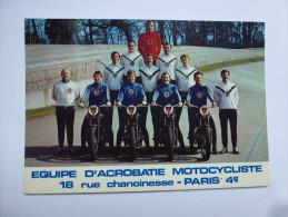 CP , Moto , Equipe D'acrobatie Motocycliste , Préfecture De Police De Paris - Motos