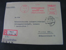== Wien Zentralsparkasse Freistempler 1940 - Occupation 1938-45