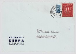 BRD, 1955, Nr. 218, EF, Mi. 30.-, Portogerecht!      #2233 - Briefe U. Dokumente