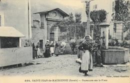 Saint-Jean-de-Maurienne (Savoie) - Paysannes Sur La Place - Edition Grimal - Carte Non Circulée - Europe