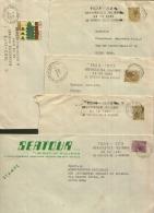 1973 Lotto 5 Buste Targhetta Meccanica 50 Anni Aeronautica Militare - Affrancature Meccaniche Rosse (EMA)