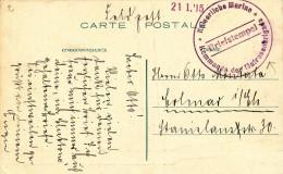 248/23 - Carte-Vue D' OSTENDE En Feldpost 1915 - Cachet De La Kaiserliche Marine , Kommando Der Matrosenbrigade - WW I