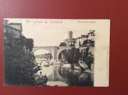CIVIDALE - SULLA SPONDA DESTRA DEL NATISONE  NEI PRIMI ANNI DEL 900 - EDITORE F.STRAZZOLINI CIVIDALE  FOTO M. ZANUTTI - Udine