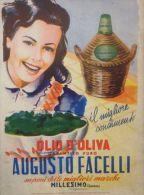 Postcard - Poster Reproduction - Olio D´Oliva Augusto Facelli Millesimo (Savona) 1958 - Pubblicitari