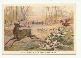 CHROMO PUBLICITAIRE - CHICOREE LERVILLES à BOUCHAIN - LES GRANDES CHASSES - CERF - Autres