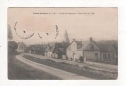 Carte Postale THIRON GARDAIS ECOLE Des Garçons Entrée De La Ville EURE & LOIR - Andere Gemeenten