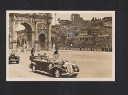 Cartolina Hitler Vittorio Emanuele III Roma 1939 - Königshäuser