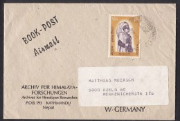 Nepal: Cover To Germany, 1973, 1 Stamp, King (traces Of Use) - Nepal