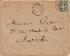 ALGERIE - SEMEUSE 15c LIGNEE - OBLITERATION MAISON CARRE ALGER LE 4 AOUT 1904. - Sin Clasificación