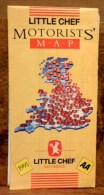 Carta Stradale Inghilterra Little Chef 1991 - Europa