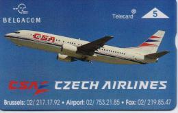 BELGIUM PHONECARD(L&G) CZECH AIRLINES-P369-1700pcs-MINT(2) - Airplanes