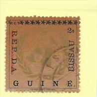 TIMBRES - STAMPS - GUINÉE-BISSAU / GUINEA-BISSAU - 1975 - CENTe. OMI - OMM - SURCHARGE NOIR AVEC 12 STARS - Guinea-Bissau