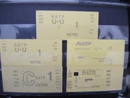 FRANCE-Lot De Tickets De Métro De Paris-A étudier P6950 - Metro