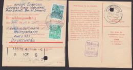 DDR Einzahlungsauftrag Schwarze Pumpe Grossbauvorhaben 1959 Hoyerswerda, 5 Und 25 Pf. 5-Jahrplan - [6] Repubblica Democratica