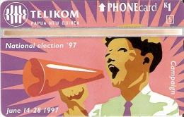 TARJETA DE PAPUA Y NUEVA GUINEA DE NATIONAL ELECTION ´ 97 (705A) (NUEVA-MINT)