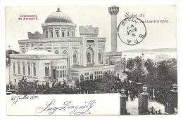 Carte Postale Constantinople Galata - Poste Française 30 Juil 1900 Vers Liège - Réexpédié Vers Spa - Levant (1885-1946)