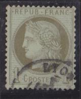 France N°50 - 1c Vert-olive - Oblitéré - TB - 1871-1875 Cérès