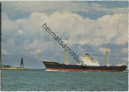 Nordseebad Cuxhaven - Kugelbake - HAPAG-Überseeschiff - Cuxhaven
