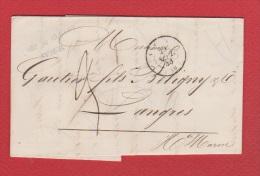 Lettre   //   De Vesoul  //  Pour Langres //  29  Septembre 1848  // - 1801-1848: Vorläufer XIX