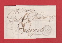 Bordereau  //   De Vesoul  //  Pour Langres //  16 Octobre 1840  // - 1801-1848: Vorläufer XIX