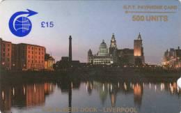 ST.HELENA ISL.(GPT) - The Albert Dock/Liverpool, First Trial Issue 500 Units, CN : 1CSHC, Used - St. Helena Island
