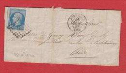 Lettre //   De Bordeaux //  Pour Castelnaudary //  26 Février 1858  // - 1849-1876: Klassik