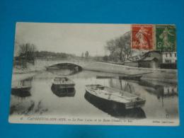 40 )  Cabreton-sur-mer - N° 6 - Le Pont Lajus Et Les Bains Chauds  - Année 1918  - EDIT : Darribeau - Capbreton