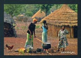 SENEGAL  -  Village Scene  Unused  Postcard As Scan - Senegal