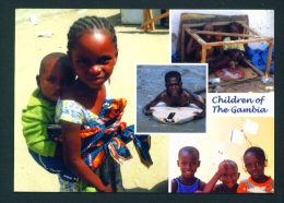 GAMBIA  -  Children  Multi View  Unused  Postcard As Scan - Gambia