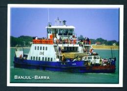 GAMBIA  -  Banjul  Ferry  Unused  Postcard As Scan - Gambia