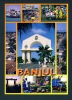 GAMBIA  -  Banjul  Multi View  Unused  Postcard As Scan - Gambia