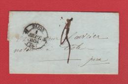 Lettre //   De Dijon //  Pour Dôle //  1 Septembre 1838  // - 1801-1848: Vorläufer XIX