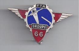 66 E Groupe Forces Terrestres Antiaériennes - Insigne émaillé Drago Béranger Déposé - Unclassified