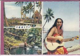 TAHITI .- Baie De Mataval ; Interieur De L' Ile ; Tahitienne à La Guitare - Tahiti