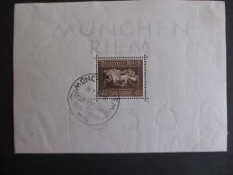 """Deutsches Reich 1936, 22, Juni, Blockausgabe: Galopprennen """"das Braune Band Von Deutschland"""" - Blocks & Kleinbögen"""