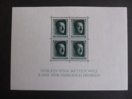Deutsches Reich 1937, 5. April, Blockausgabe Adolf Hitler Zum 48. Geburtstag - Blocks & Kleinbögen