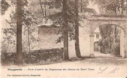 HOUGAERDE Près De Tirlemont (3320) : Porte D'entrée Du Pensionnat Des Dames Du Sacré Coeur. CPA Précurseurs. - Hoegaarden