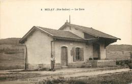 70 - MOLAY - La Gare -superbe Etat - France