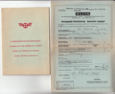 SBB CFF FFS ° Elvia - Reisegepäck-Versicherung / Assurance Bagages (1960) - Svizzera